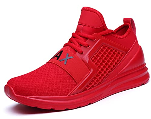 60f2ccc1c9d2 EL Possibilities Men's Sneakers Breathable Comfortable Youth Big Boys Sport  Trail Running Shoes Red Size 6.5 (7058-Red-39)