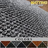 Entrance Runner Water Absorbing Carpet-like Corrugated Surface Mat Slip-Resistant 7/16'' thick for Entrance-ways Hallways Lobbies Hotel Office B014 (3'x12', Dark Gray)