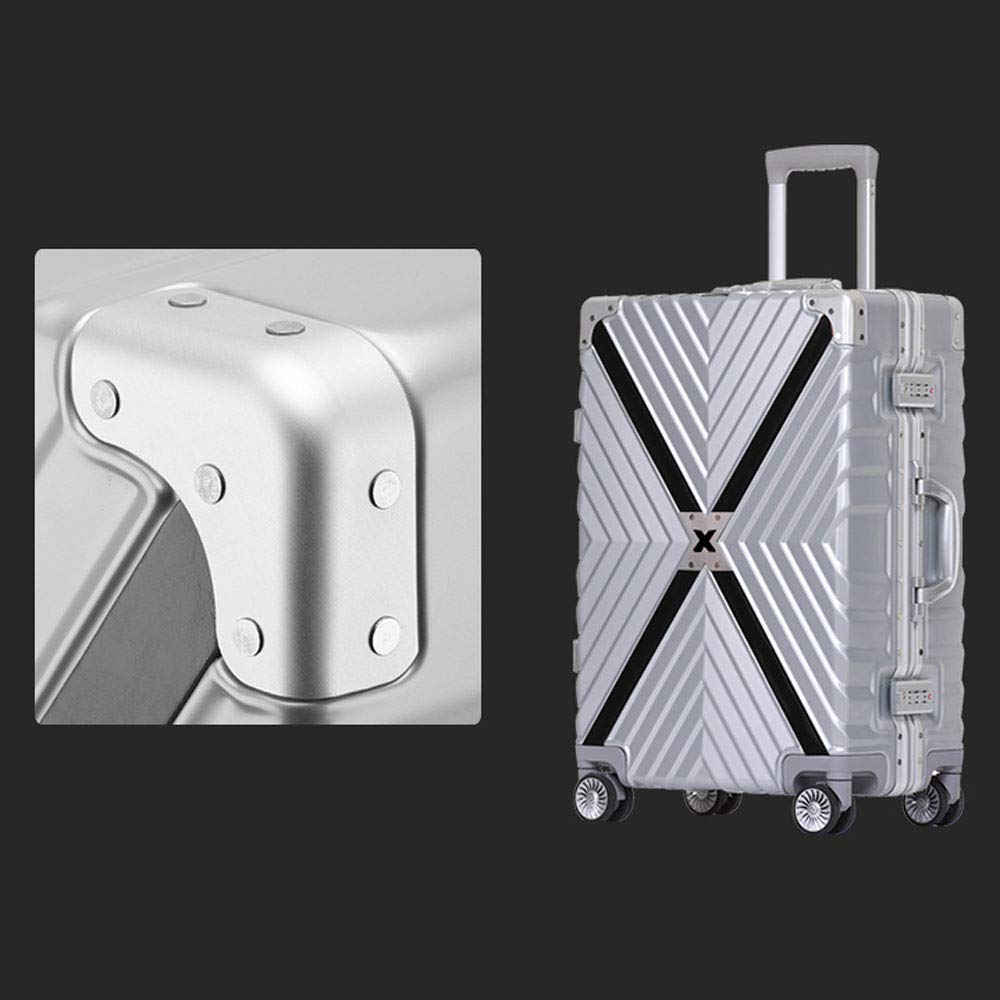ABS//PC TSA Combination Lock Large Capacity YD Luggage Set Trolley case 2 Colors 3 Sizes Optional ///& Retro Aluminum Frame Anti-Collision Universal Wheel Student Boarding Chassis