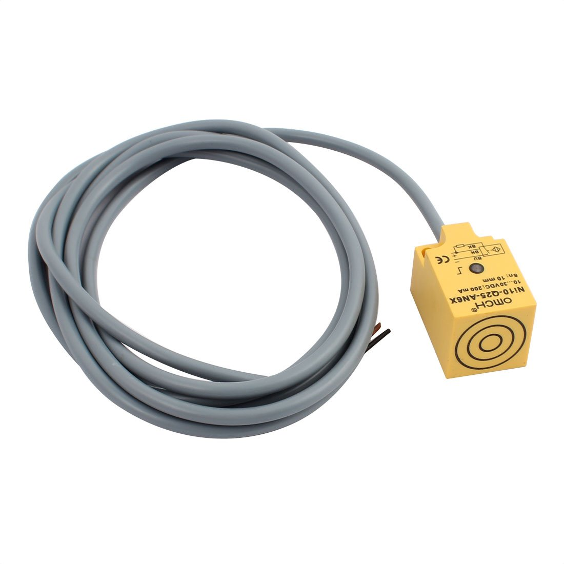Aexit NI10-Q25-AN6X DC 10-30V 200mA NPN NO 10mm Inductive Proximity Sensor Switch 3-Wire