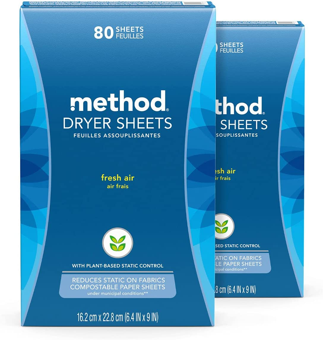 Method Dryer Sheets Surprise price Fresh Max 46% OFF Air May pack 80 2 Packaging