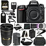 Nikon D750 DSLR Camera (Body Only) + Nikon AF-S NIKKOR 24-70mm f/2.8G ED Lens + 77mm 3 Piece Filter Set (UV, CPL, FL) + Battery + Sony 128GB SDXC Card + HDMI Cable + Card Reader + Flash Bundle