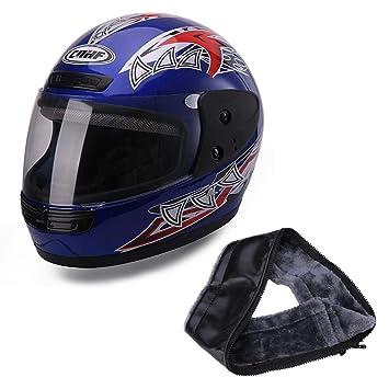 leap-G Motorradhelm Integralhelm Fullface Helm Wangenpolster komplettwaschbar f/ür Damen Herren Erwachsene Motorrad-Helm Roller-Helm Helmet