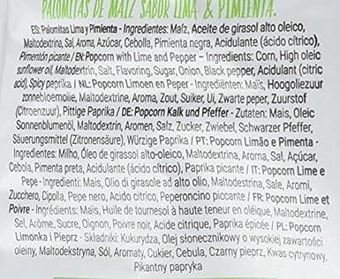 Anaconda Palomitas de Maíz Explotadas con Aire Caliente- Paquete de 6 x 30 gr - Total: 180 gr, sabor Lima y Pimienta: Amazon.es: Alimentación y bebidas