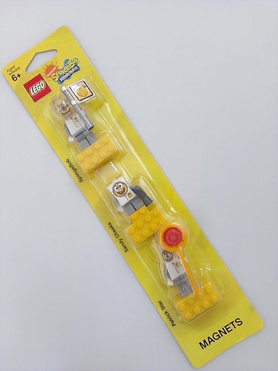 LEGO SpongeBob Spacesuit Magnet Set: SpongeBob, Sandy Cheeks and Patrick / Lego SpongeBob spacesuit magnet set [Sponge Bob Square Pants, Sandy Cheeks, Patrick Star] 852 547 (japan import)