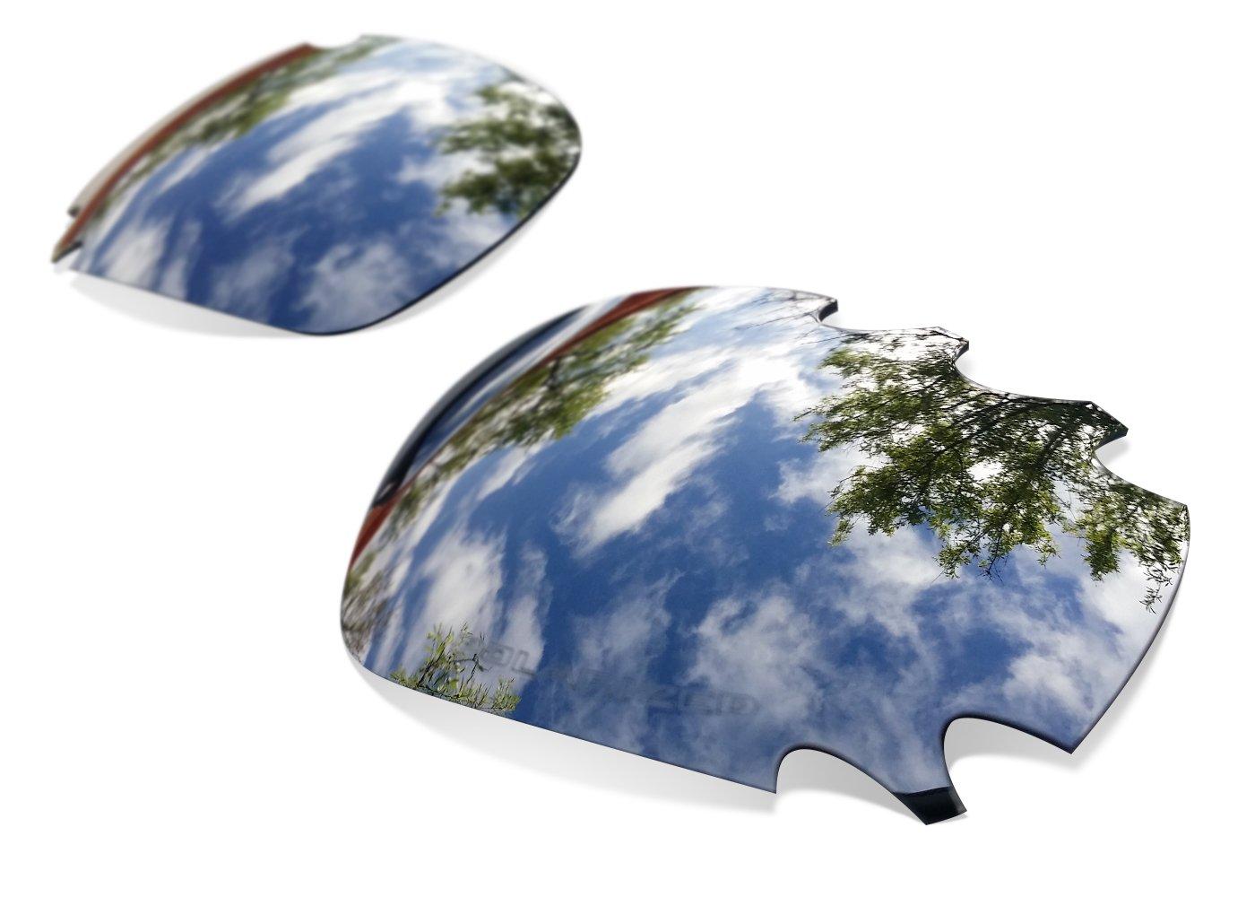Lentes de Recambio Polarizadas Black Iridium para Oakley Racing Jacket Ventilada | Sunglasses Restor...