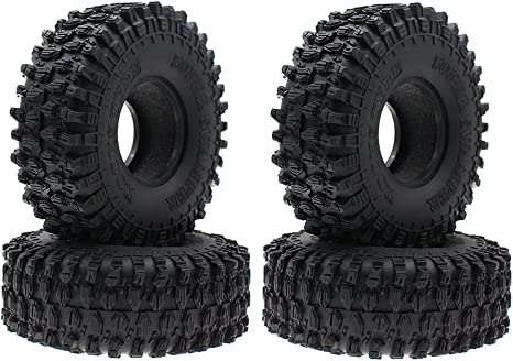 """RC 120MM 1.9/"""" Rubber Rocks Tyres Wheel Tires for 1:10 Rock Crawler Axial SCX10"""