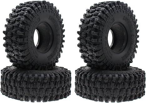 4PCS 120MM RC Car Rubber Rocks Tyres Wheel Tires for 1:10 RC Rock Crawler