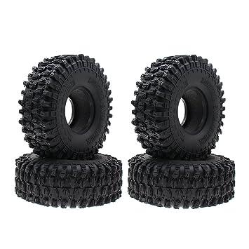 INJORA 4PCS 1,9 Neumáticos para 1:10 RC Rock Crawler Axial SCX10 90047 RC4WD D90 D110 TF2 Tamiya CC01 Traxxas TRX-4: Amazon.es: Juguetes y juegos