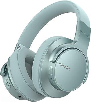 Mixcder E7 Auriculares Bluetooth 5.0 con Cancelacón Activa de Ruido, Cascos Inalámbricos Bluetooth con Micrófono, Hi-Fi Sonido Estéreo, Carga Rápida, 30 Horas de Juego (Verde): Amazon.es: Electrónica