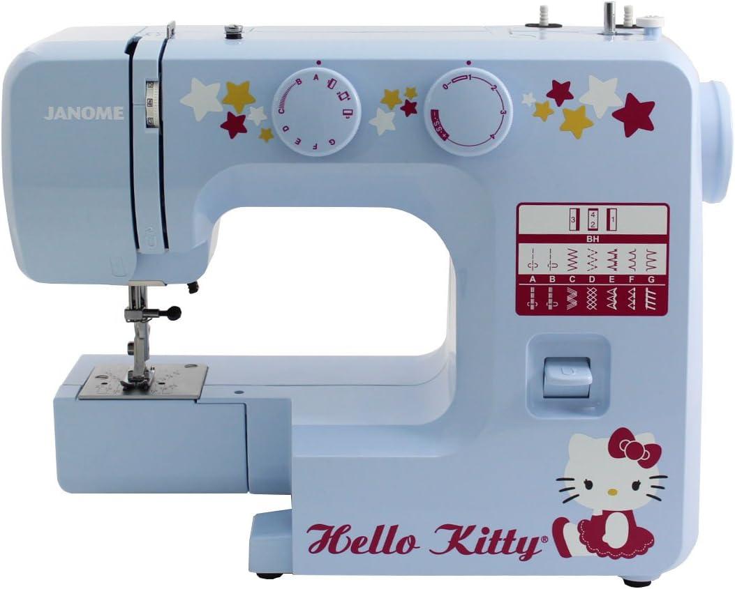 Janome 15312 máquina de coser Hello Kitty azul con bonuspack ...