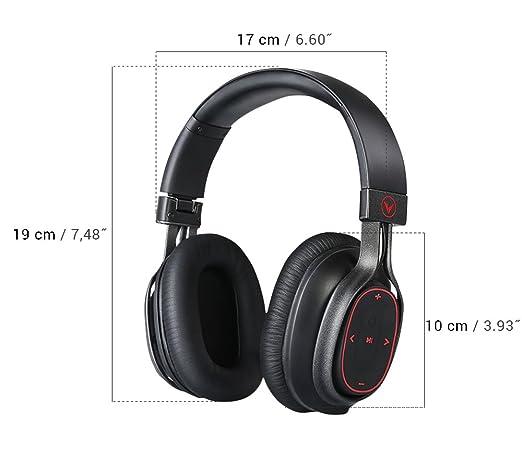 Venstar over Ear auriculares, auriculares Bluetooth, auriculares inalámbricos portátiles, hand-fee sonido de alta fidelidad a través de aptX, hasta 23 horas ...