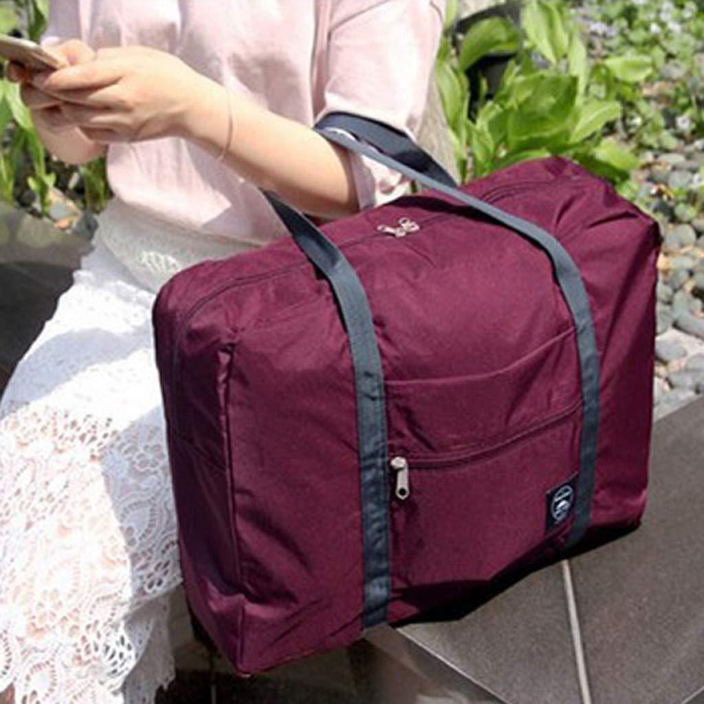 RAINED-Foldable Travel Duffel Bag Large Capacity Luggage Bag Fashion Travel Bag for Man Women Bag Water Resistant Nylon