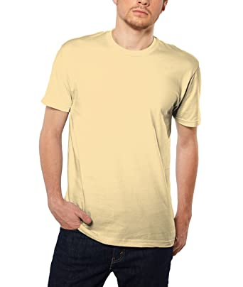 d88108cfb Nayked Apparel Men's Ridiculously Soft Short Sleeve 100% Cotton Shirt,  Banana Cream, X