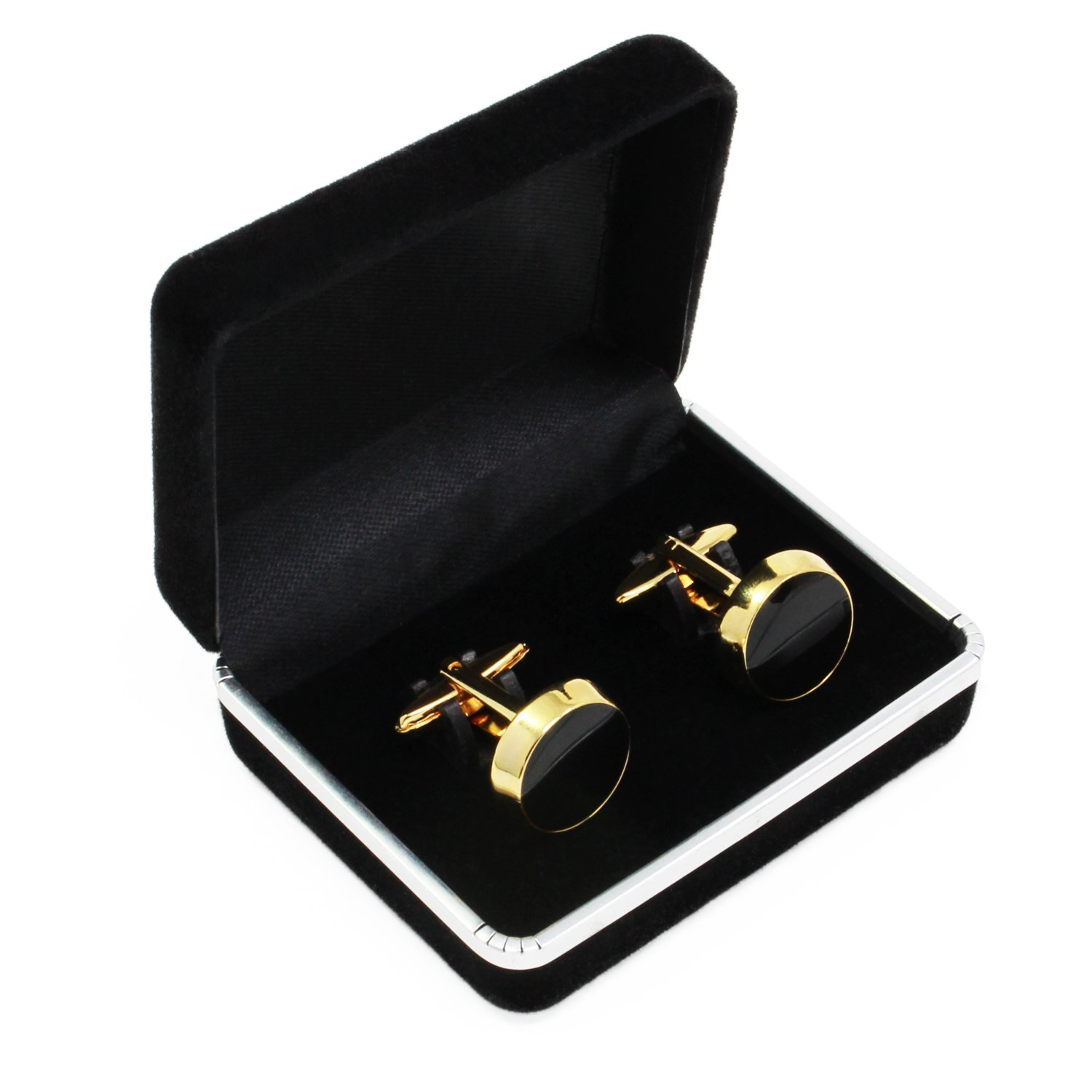 KEESIN Vintage Round Cufflinks Elegant Mens Shirts Cuff links for Business Wedding Party