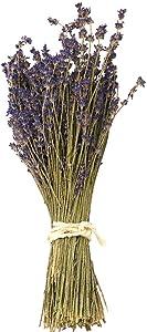 WGIA Natural Dried Lavender Bundles - Freshly Harvested Lavender Bunch Royal Velvet Decorative Flowers Bouquet for Wedding DIY Home Party & Valentine's Day Gifts - 1 Bundle Pack