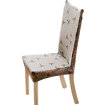 Charmant Abnehmbarer Dehnbar Gummiband Schutzhüllen Kurze Esszimmer Stuhl Sitzbezüge