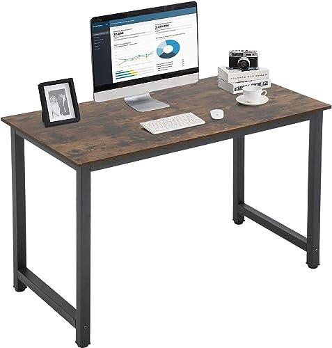 Computer Desk 47 inch Home Office Desk Gaming Desk Large Corner Writing Black Student Art Modren Sturdy Simple Style PC Wood and Metal Desk Workstation