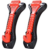 Car Safety Hammer, Car Emergency Escape Tool with Seat belt Cutter and Car Window Glass Breaker, Car Seatbelt Cutter 2…