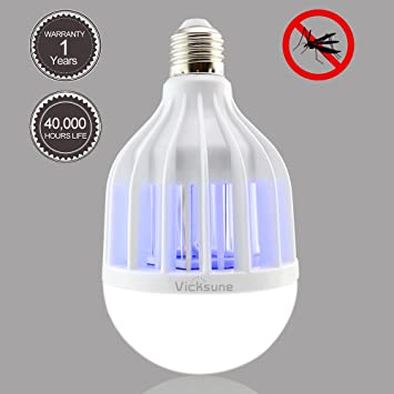 Bug Zapper Light Bulb 2017 Upgraded,Mosquito Killer Bulb With Mosquito  Zapping Function ,Perfect