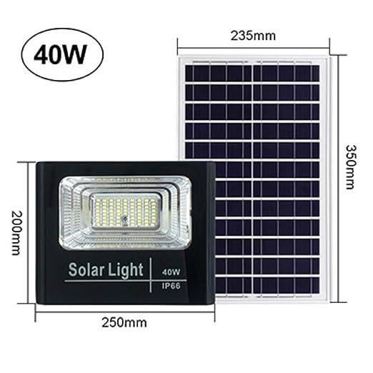 LYHONG Proyector de luz Solar 25W 40W 60W 100W 200W Foco IP66 ...