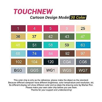80 set color touchnew marker pen set drawing painting art dual tip