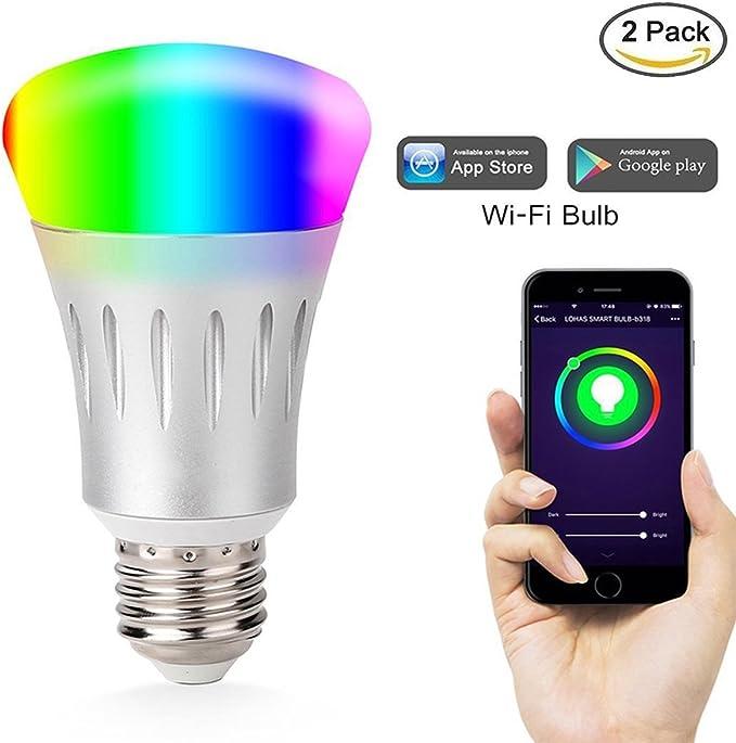 WiFi bombilla LED, Kione Smart bombilla funciona con Alexa no ...