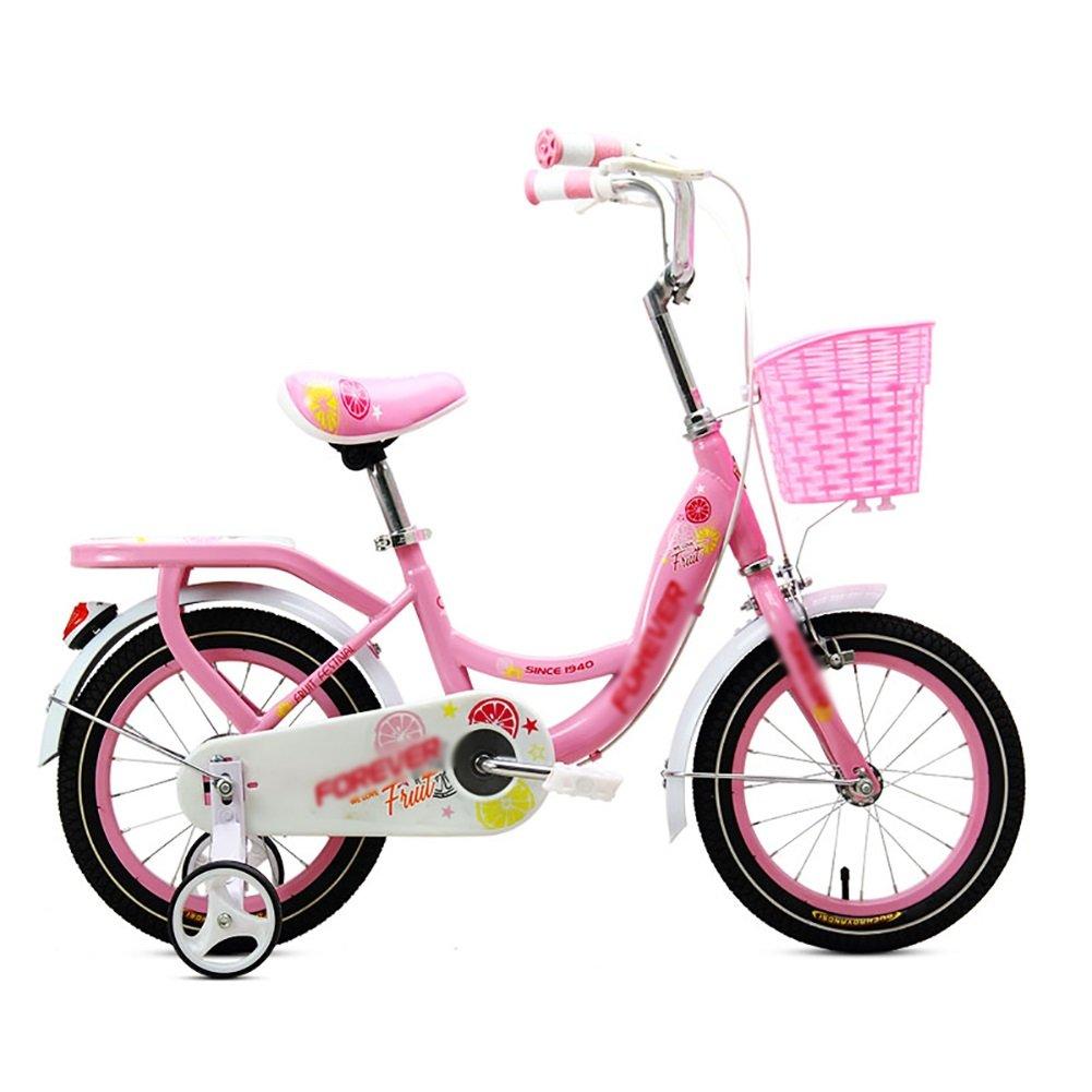 子供の自転車ベビーペダル自転車2-3-4-5-6歳の少年と少女の幼児自転車のベビーカー子供の自転車12 14 16 18インチのブルーグリーンピンク B07DWKQ9JD 14 inch|ピンク ぴんく ピンク ぴんく 14 inch