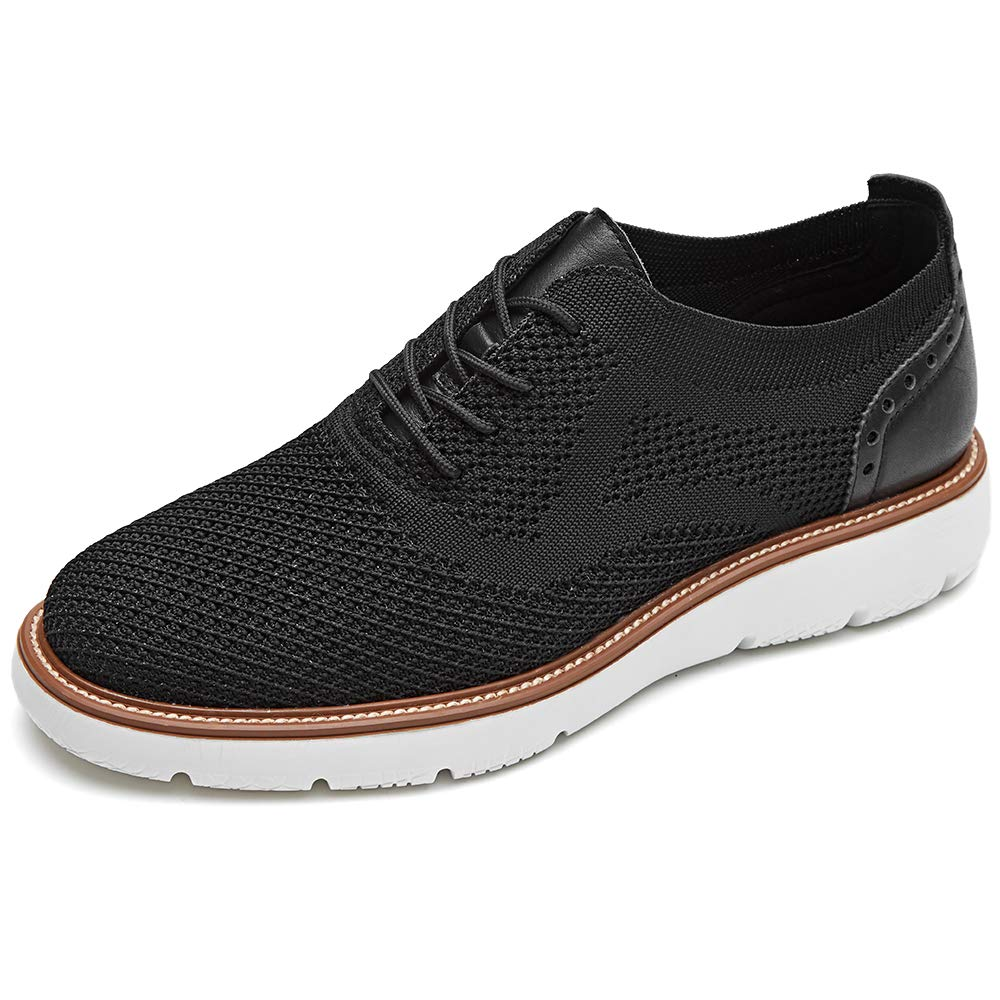 LAOKS Mens Mesh Sneakers, Lightweight Breathable Walking Shoes, Black, Size 10 US by LAOKS