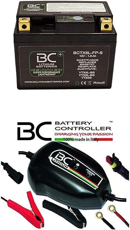 BC Lithium Batteries BCTX5L-FP-S Batería Moto de Litio + BC Lithium 900, Mantenedor de Carga para Litio [Bundle Pack]: Amazon.es: Coche y moto