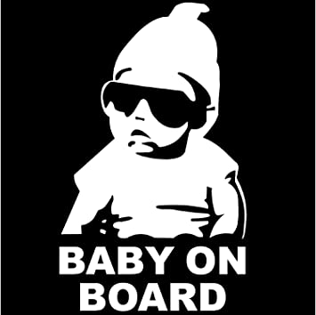 Leso Baby On Board Car Sticker Car Decal White Baby
