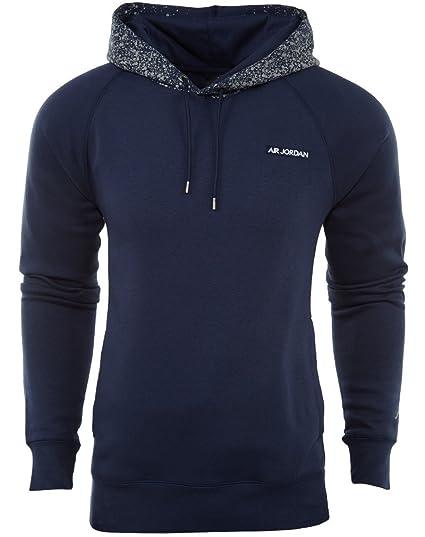 096f446252d3 Amazon.com  Jordan AJV (5) Fleece Hoodie Navy Metallic Silver 821905 410  (m)  Sports   Outdoors