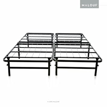 structures highrise lt foldable bed base platform bed frame and box spring in one
