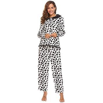 DUKUNKUN Pijamas Maternidad De Manga Larga Top Y Pantalones Largos Ropa De Dormir Pijamas Casuales-