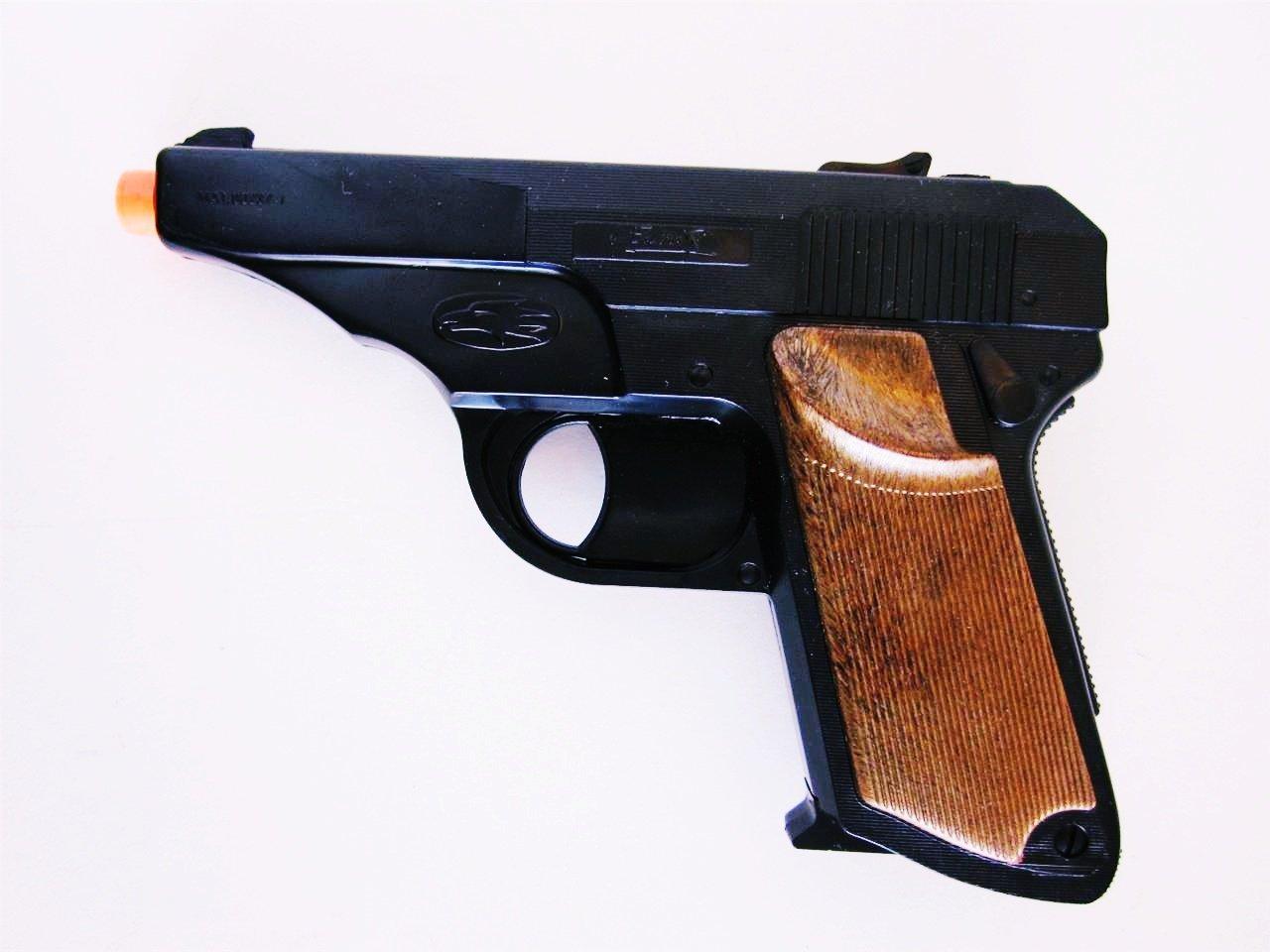 Amazon.com: WALTHER PPK James Bond Semi-Auto pistol Cap Gun hand replica  380 TOY Italy New For Ages 5+ Secret Agent Cap Gun: Toys & Games