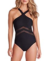 Miraclesuit Womens Solid Point of View One-Piece
