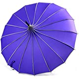 VIVISKY(TM) Pagoda Peak Old-Fashionable Ingenuity Umbrella Parasol (Purple)