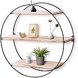 KingSo Wall Shelf Rustic Wood Floating Shelves,Decorative Wall Shelf for Bedroom, Living Room, Bathroom, Kitchen, Office and