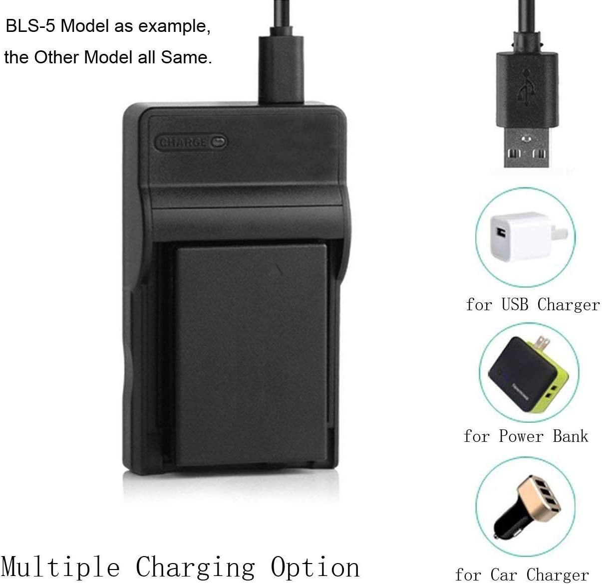 GZ-MG37AG Battery Charger for JVC Everio GZ-MG37AA GZ-MG37AH GZ-MG37AS Digital Camcorder