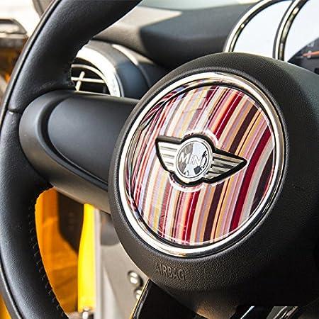 14 LVBAO 3D Steering Wheel Cover Dashboard Trim Sticker for BMW Mini Cooper ONE S JCW F Series F54 F55 F56 F57 F60 Countryman Clubman Union Jack
