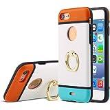 Coque iPhone 5 5 5S [rigide et souple] avec anneau pivotant 360 degrés [design, moderne et antichoc] support de téléphone pour éviter de faire tomber le téléphone et regarder vos vidéos Facil&co