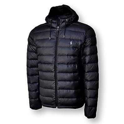 ff5c5adcadff Amazon.com  Polo Ralph Lauren Mens Full Zip Hooded Puffer Jacket  Clothing