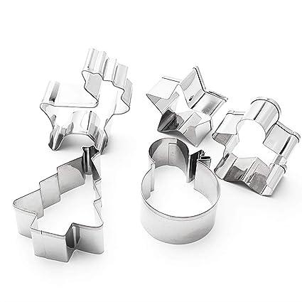 GOODFEER - 5 moldes para Galletas de Navidad, diseño de Estrella, Pan de Jengibre