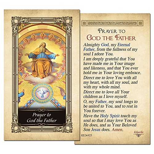 God Laminated - God the Father Laminated Holy Card - Pack of 3