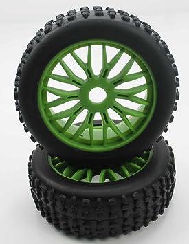 K Force Racing - Ruedas Todo Terreno 1/8 Universales Verdes - KF22044+26012: Amazon.es: Juguetes y juegos