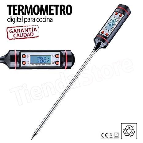 TiendaStore® Termómetro Digital de Cocina Reacción Rápida con Pantalla LCD, Termómetro de Kitchen Horno