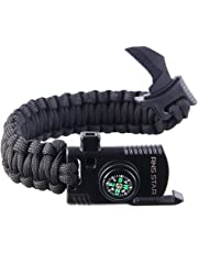 RNS STAR Paracord Survival Bracelet 500 LB - Hiking Gear Travelling Camping  Gear - Parachute Rope 51b51f1794a