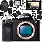 Sony Alpha a7 Mirrorless Digital Camera with Atomos Ninja Inferno 7 4K HDMI Recording Monitor 15PC Accessory Bundle – Includes Deluxe Backpack + MORE