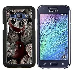 EJOOY---Cubierta de la caja de protección para la piel dura ** Samsung Galaxy J1 J100 ** --De Halloween Monster Blood Spooky Pumpkin