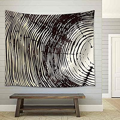 Wood Cross Section Background Fabric Wall, Classic Artwork, Dazzling Piece